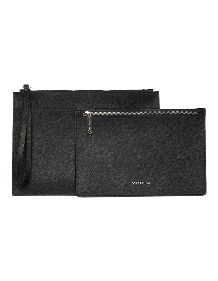 Jane Black Double Leather Clutch image 2