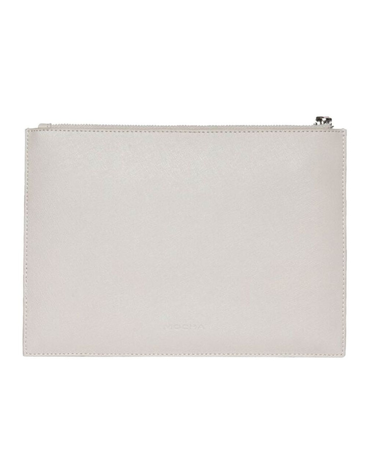 Jane Double Leather Clutch - Grey image 3