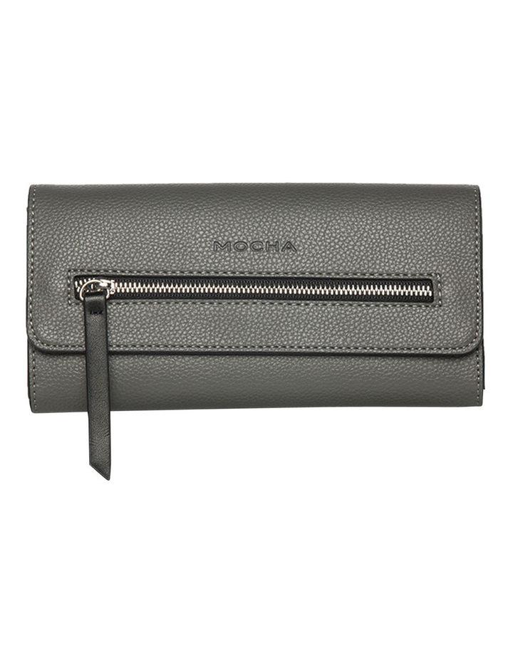 Dual Grey Tone Zip Wallet image 1