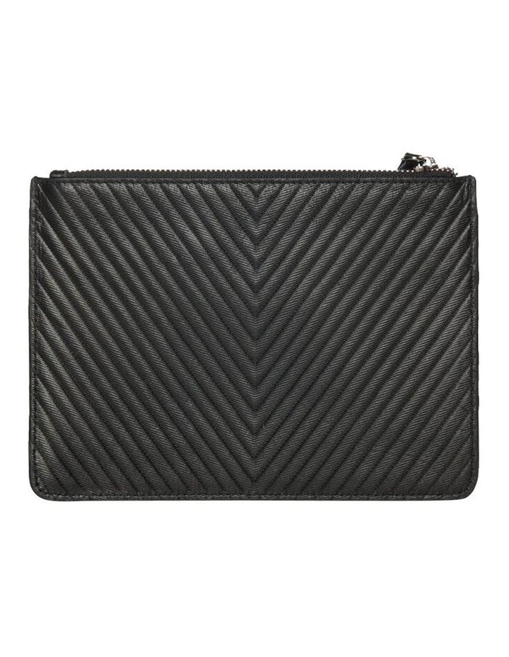 Chevron Stud Leather Clutch - Black image 2