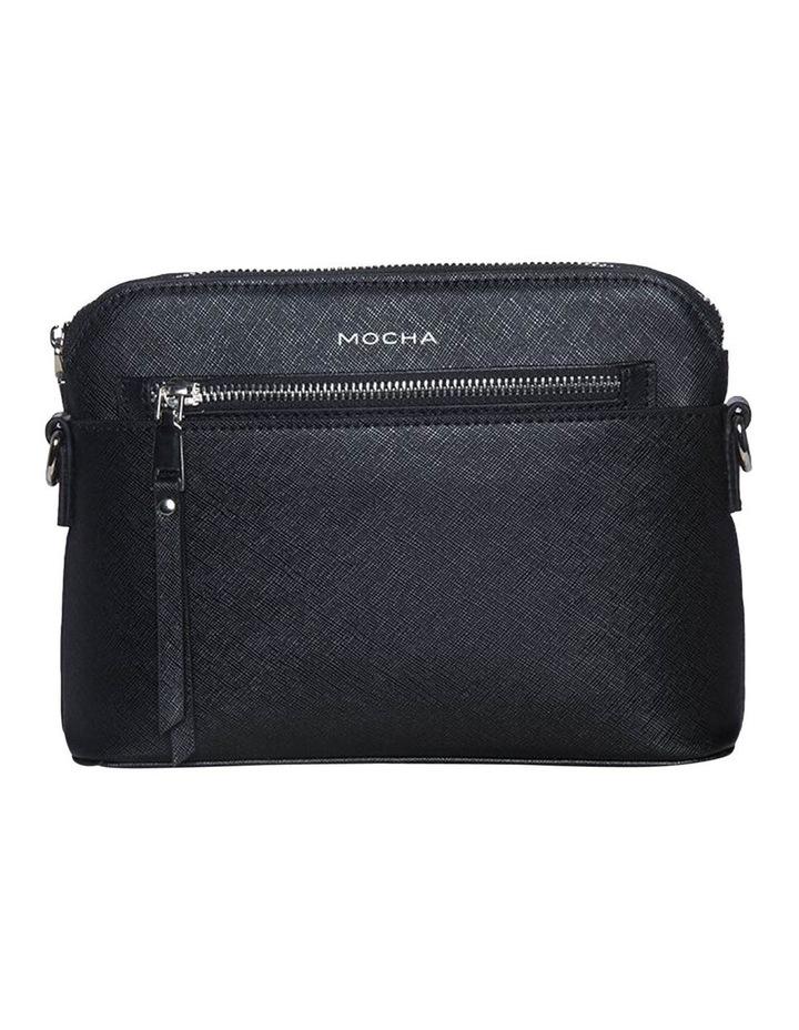 Joan Zip Clutch Leather Crossbody Bag - Black image 1