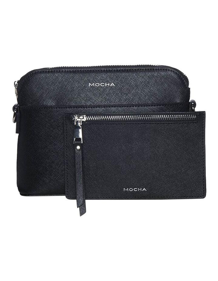 Joan Zip Clutch Leather Crossbody Bag - Black image 2