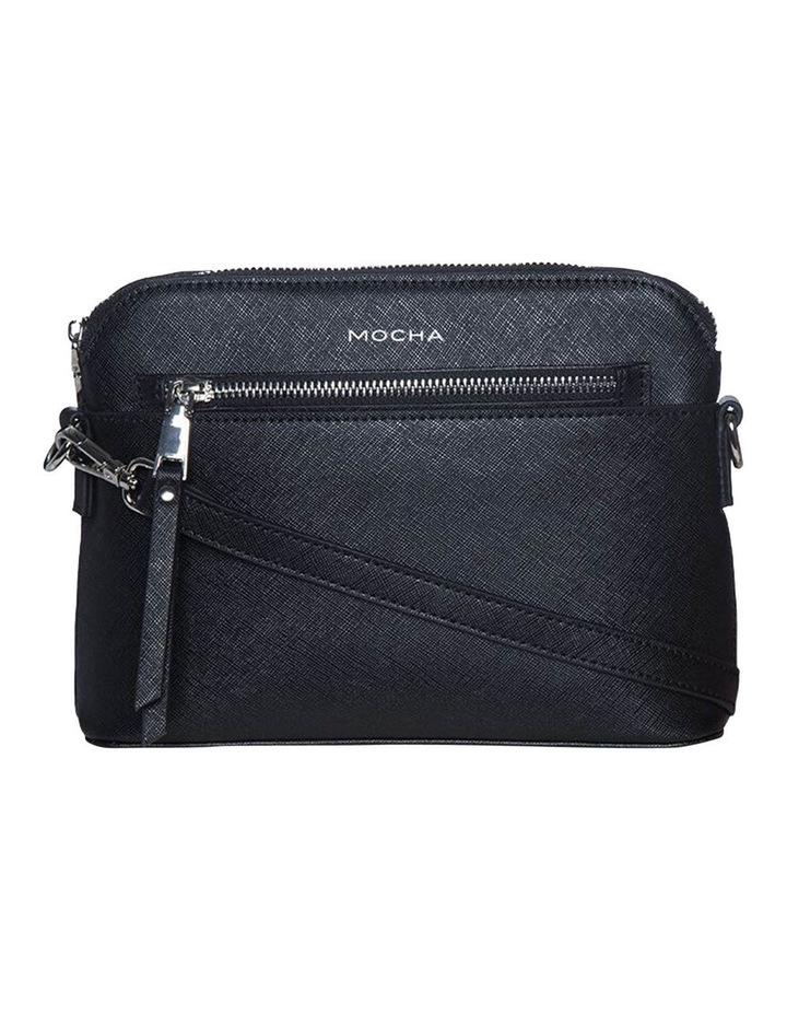 Joan Zip Clutch Leather Crossbody Bag - Black image 3