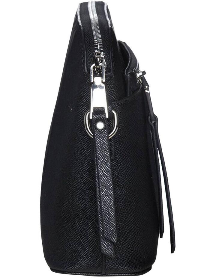Joan Zip Clutch Leather Crossbody Bag - Black image 4