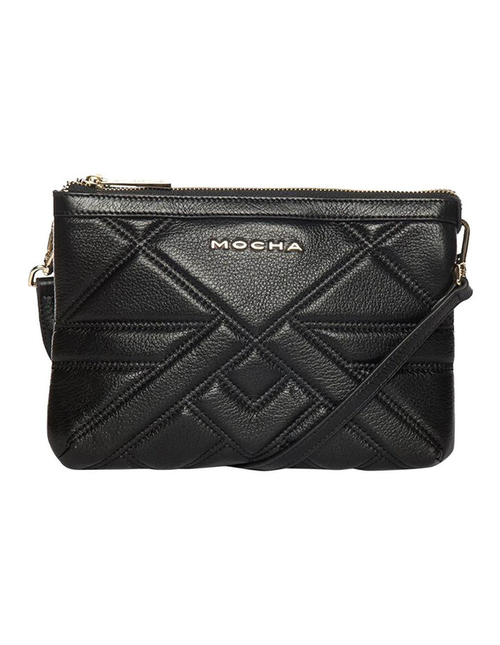 Aztec Double Leather Black Crossbody Bag image 1
