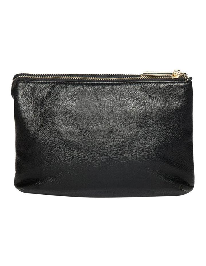 Aztec Double Leather Black Crossbody Bag image 3