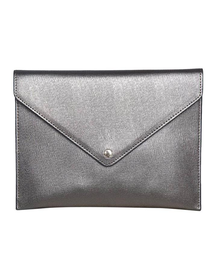 Becca Envelop Clutch - Metallic Grey image 1