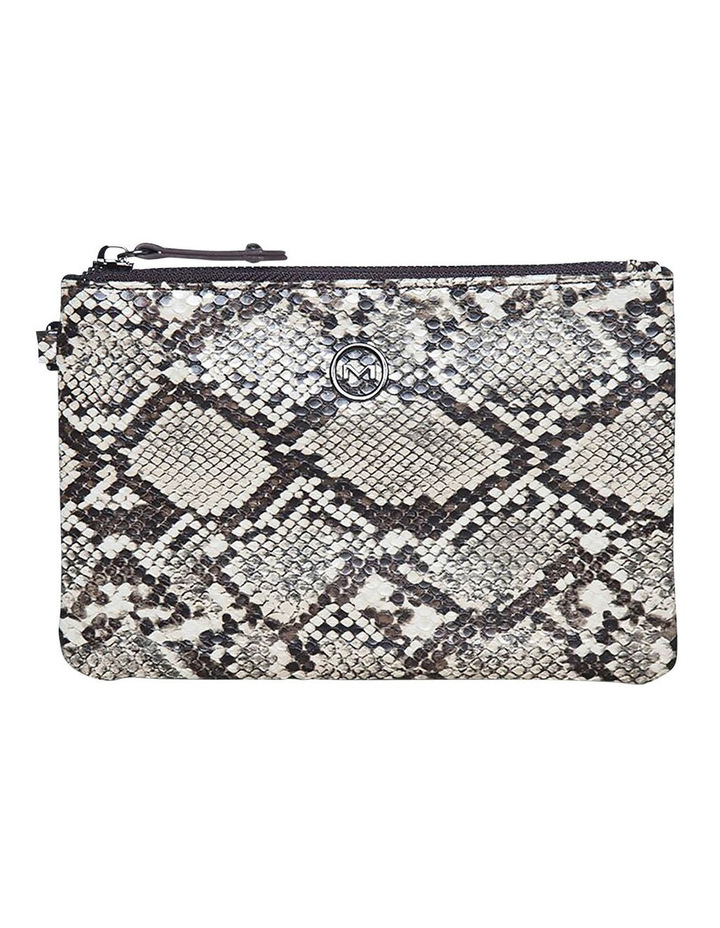 Snake Embossed Coin Wallet - Taupe image 1