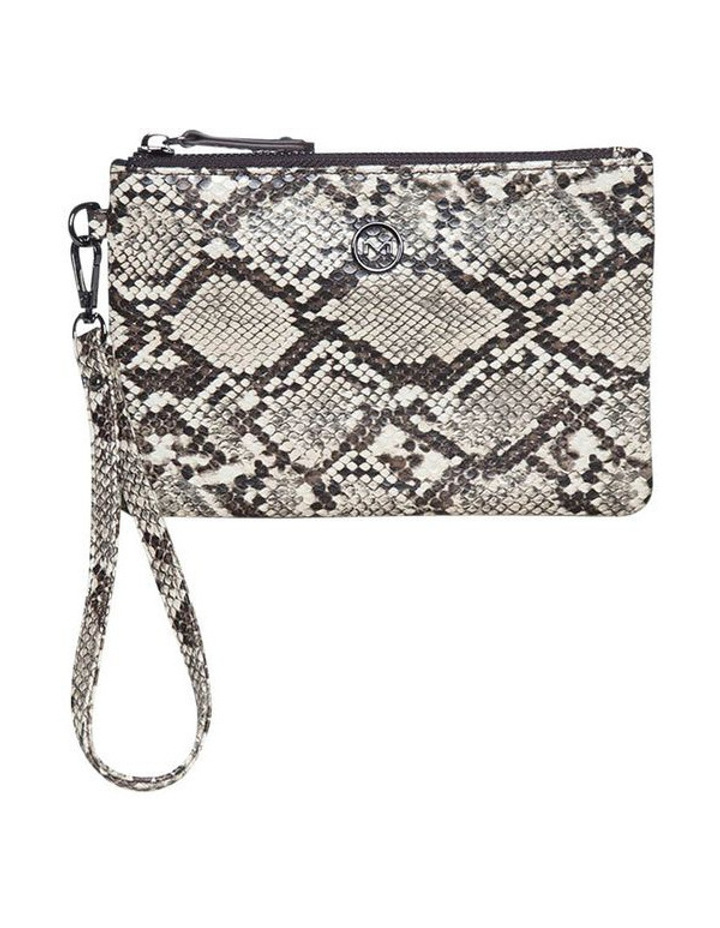 Snake Embossed Coin Wallet - Taupe image 2