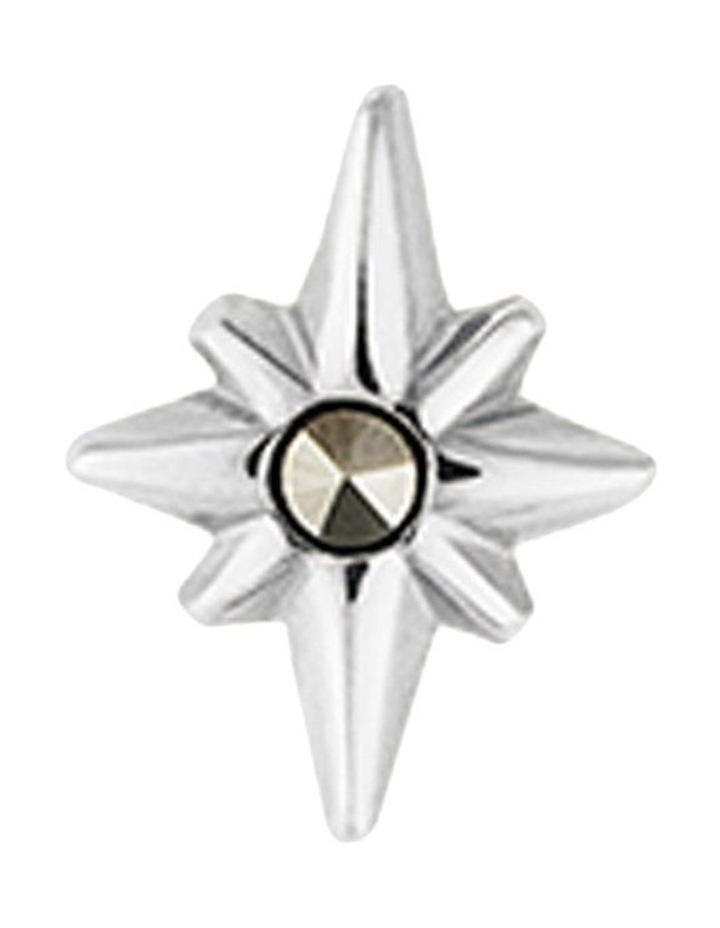 Pointed Star Single Stud Earring - Sterling Silver image 1