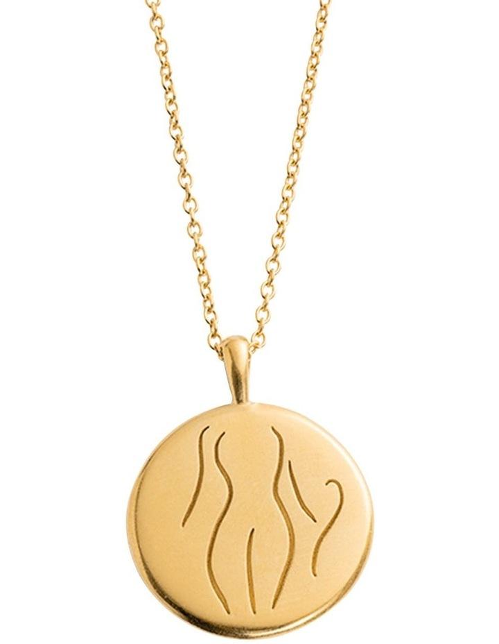 Authenticity Amulet Necklace w/ 18K Gold Vermeil image 1