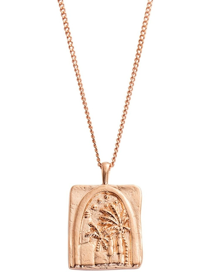 Under The Night Sky Coin Charm w/ 18K Rose Gold Vermeil image 3