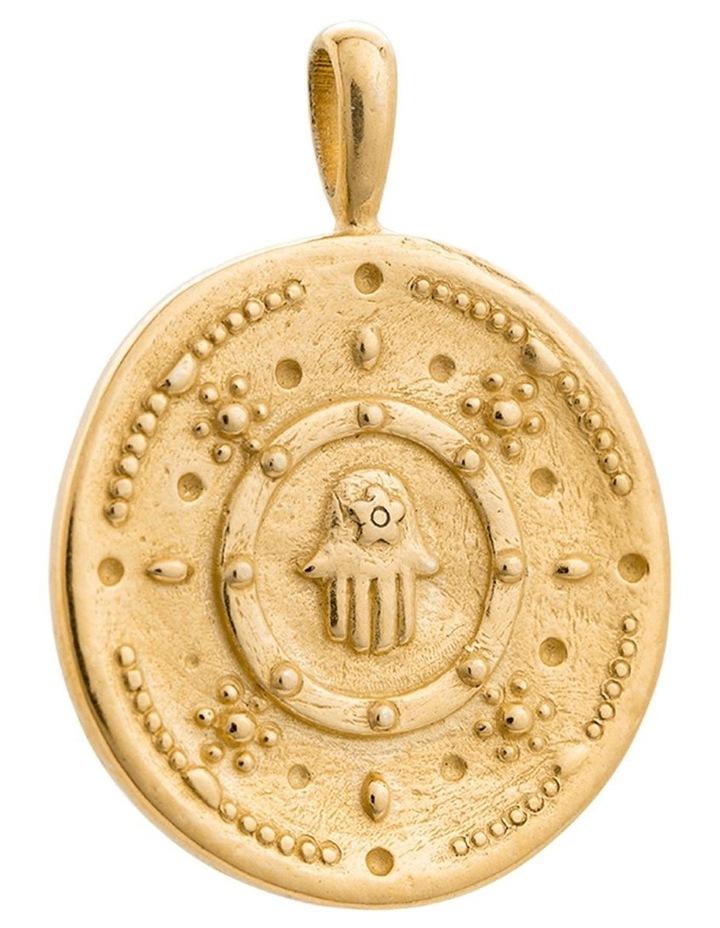 Hamsa Protection Coin Charm w/ 18K Gold Vermeil image 1