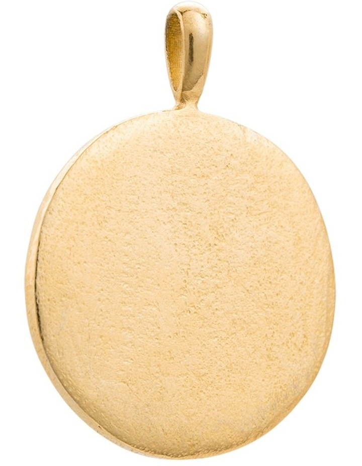 Hamsa Protection Coin Charm w/ 18K Gold Vermeil image 2
