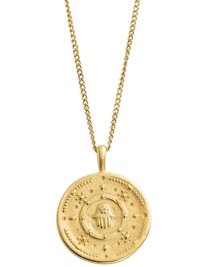 Hamsa Protection Coin Charm w/ 18K Gold Vermeil image 3