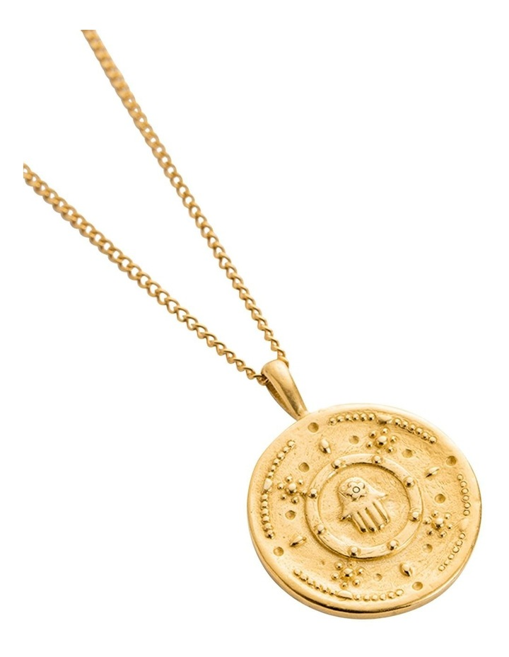 Hamsa Protection Coin Charm w/ 18K Gold Vermeil image 4