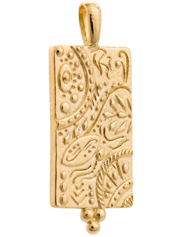 Marrakech Coin Charm w/ 18K Gold Vermeil image 1