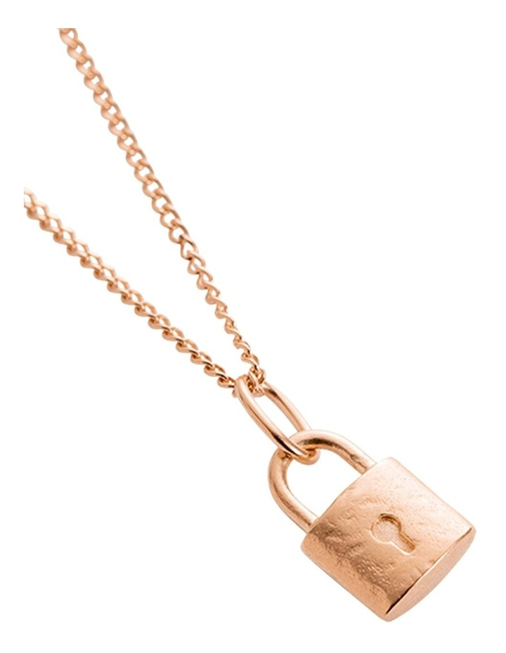 Petite Lock Charm w/ 18K Rose Gold Vermeil image 3