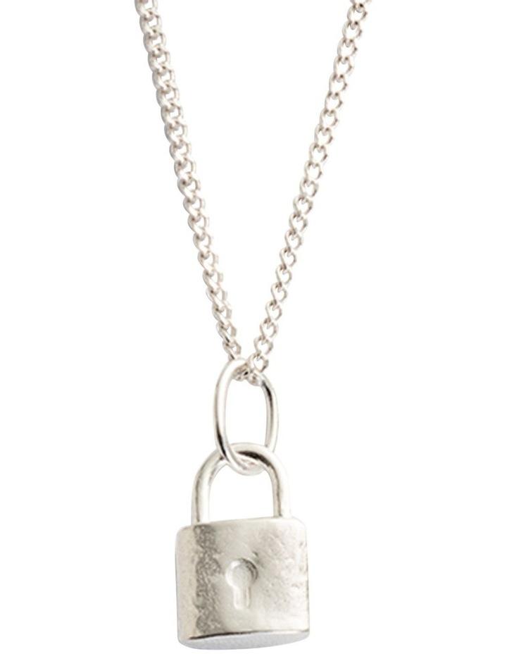 Petite Lock Charm w/ Sterling Silver image 3