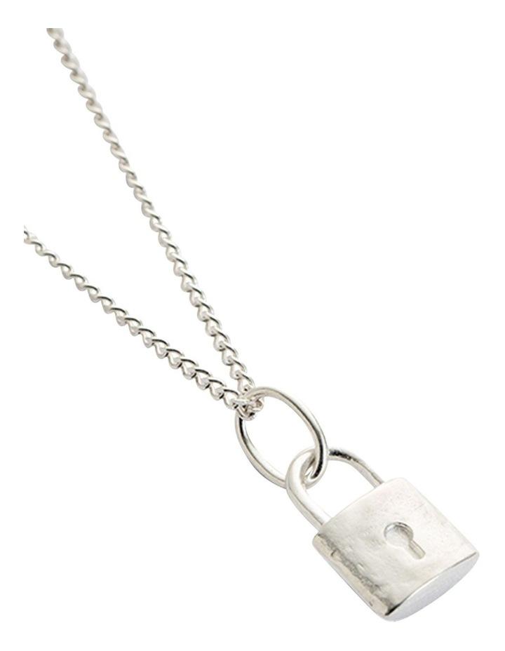 Petite Lock Charm w/ Sterling Silver image 4