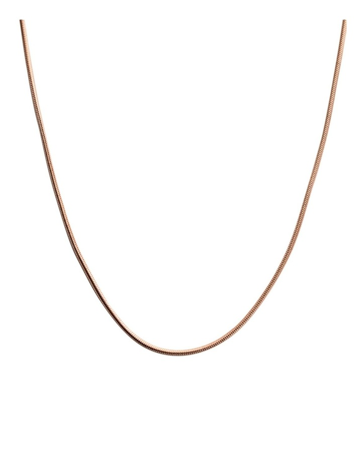 """Snake Chain 18"""" Necklace w/ 18K Rose Gold Vermeil image 1"""