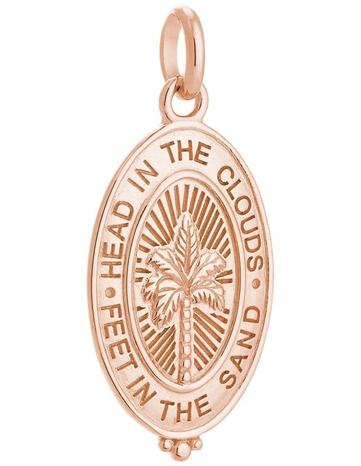 Palm Coin Charm w/ 18K Rose Gold Vermeil image 1