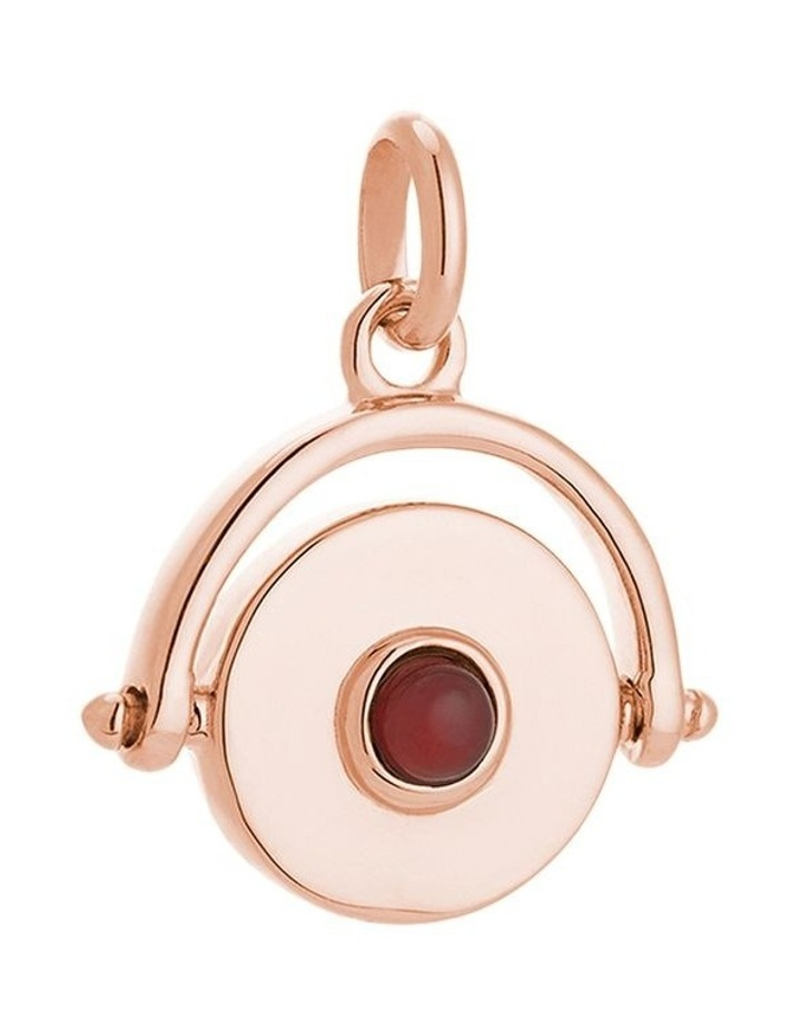 Protection Spinner Charm - 18K Rose Gold Vermeil image 1