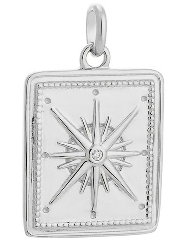 True North Coin Charm - Sterling Silver image 1
