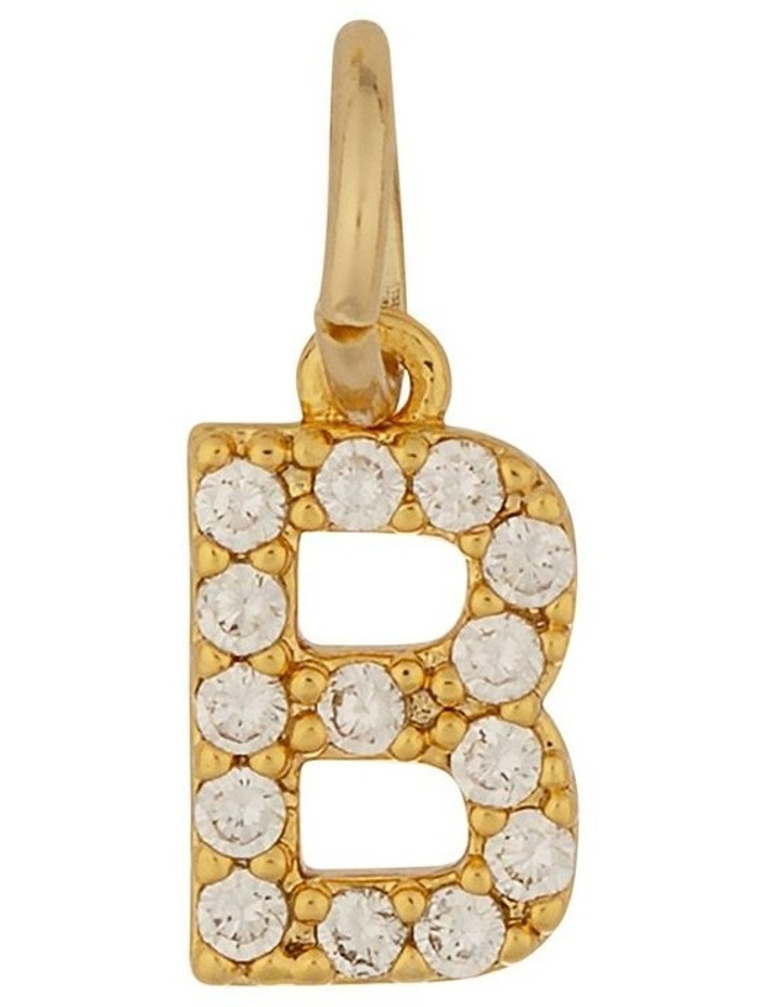 Letter Charm Gold - B image 1
