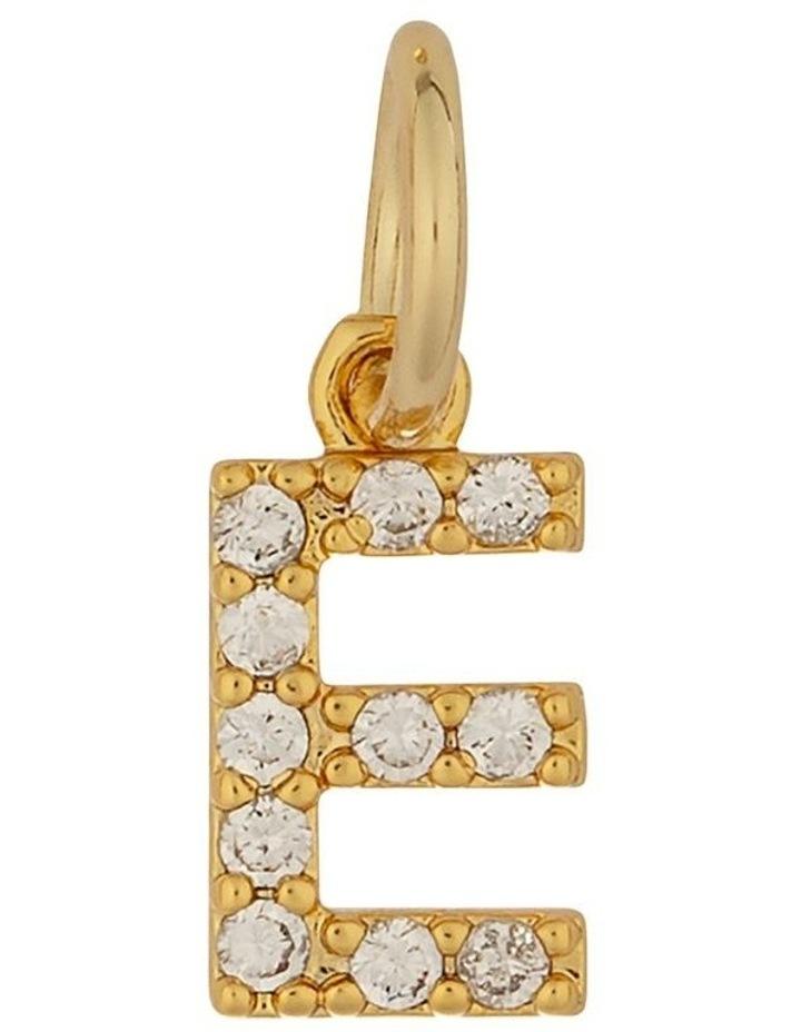 Letter Charm Gold - E image 1