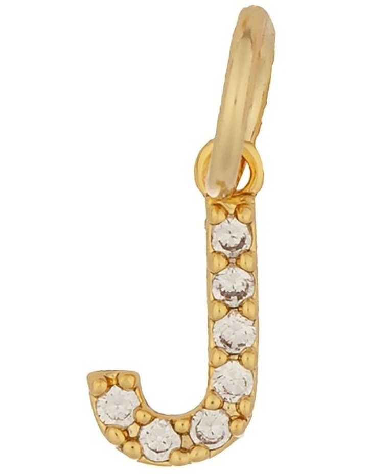 Letter Charm Gold - J image 1