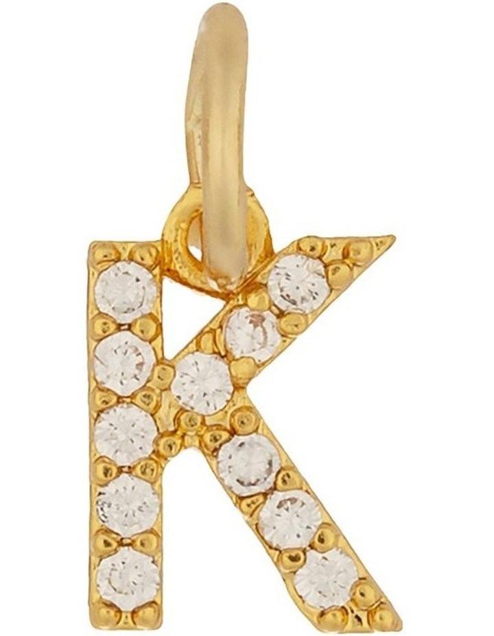 Letter Charm Gold - K image 1