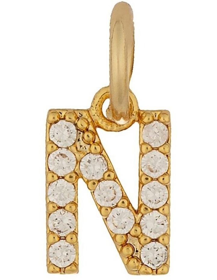 Letter Charm Gold - N image 1