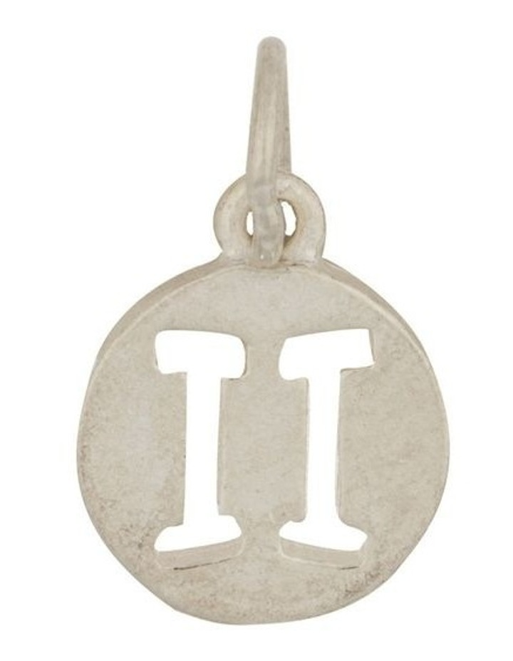 Gemini Zodiac Plate Sterling Silver Charm image 1