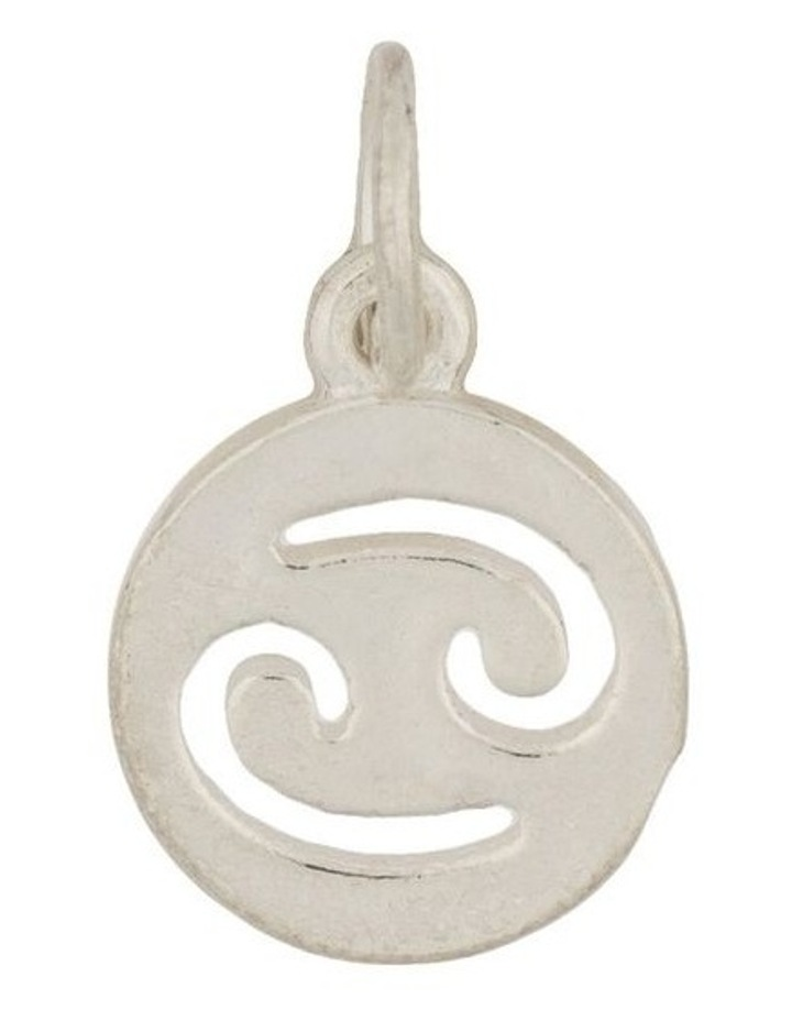 Cancer Zodiac Plate Sterling Silver Charm image 1