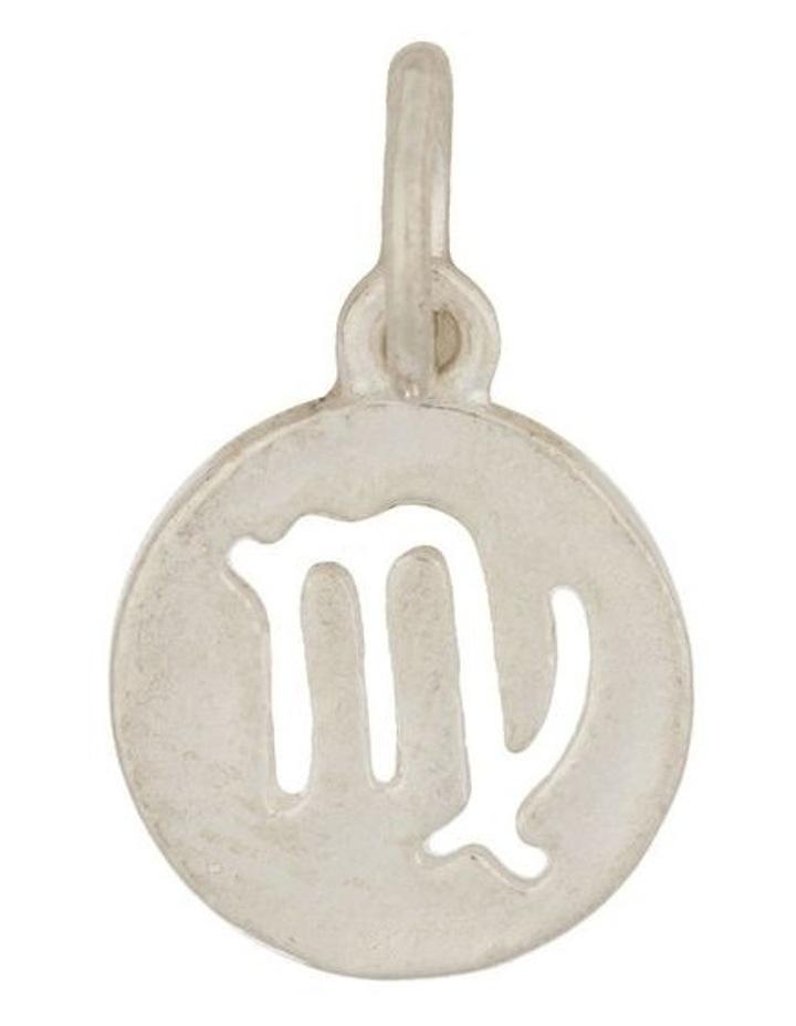 Virgo Zodiac Plate Sterling Silver Charm image 1