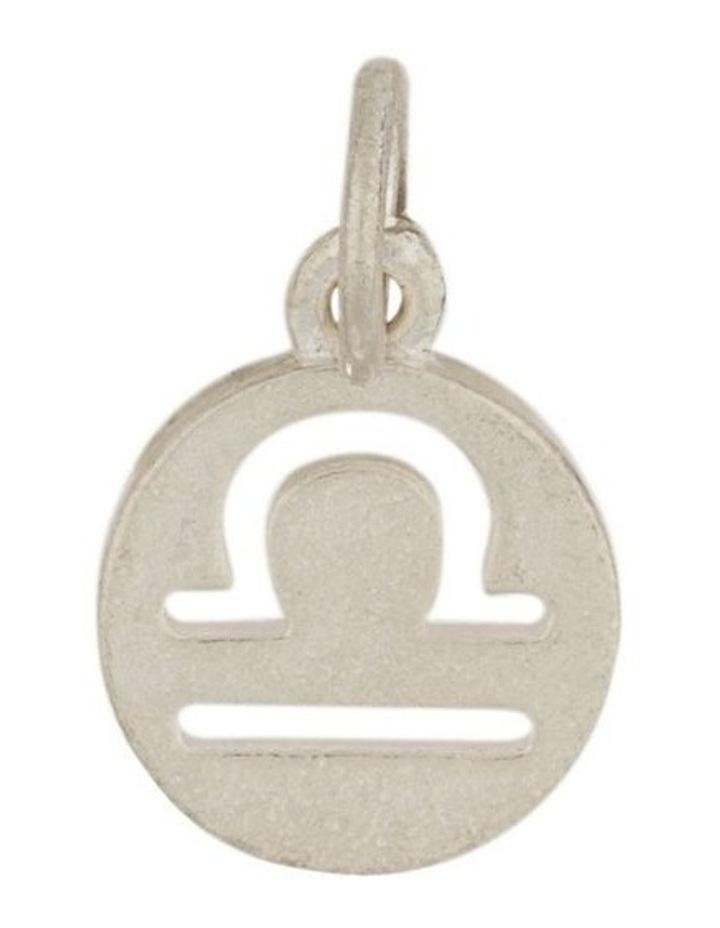 Libra Zodiac Plate Sterling Silver Charm image 1