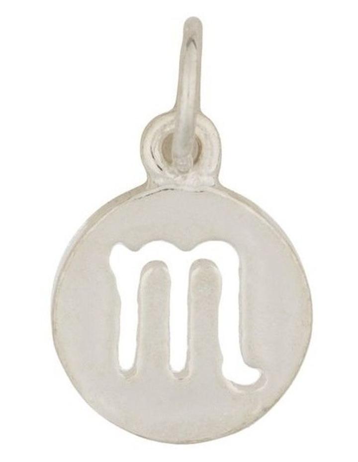 Scorpio Zodiac Plate Sterling Silver Charm image 1