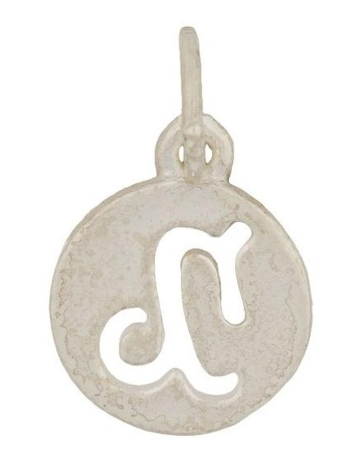 Capricorn Zodiac Plate Sterling Silver Charm image 1