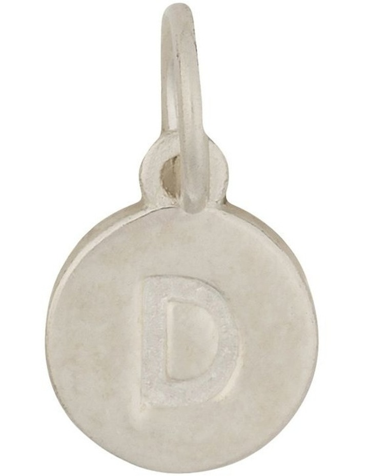 Round Plate Letter Sterling Silver Charm - D image 1