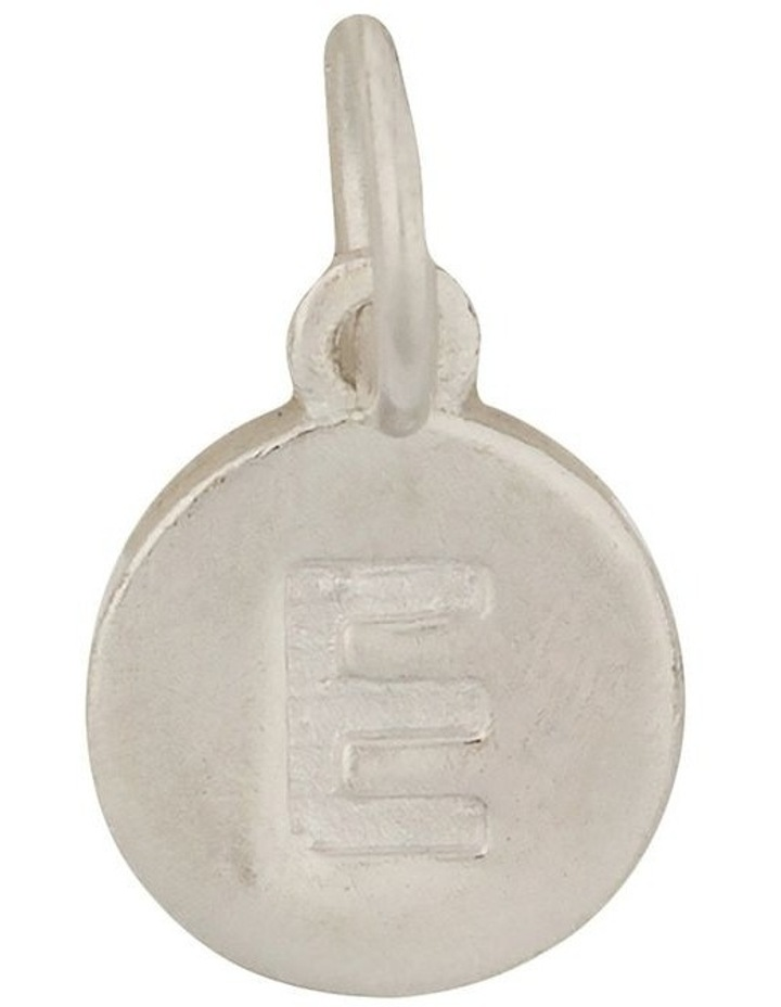 Round Plate Letter Sterling Silver Charm - E image 1