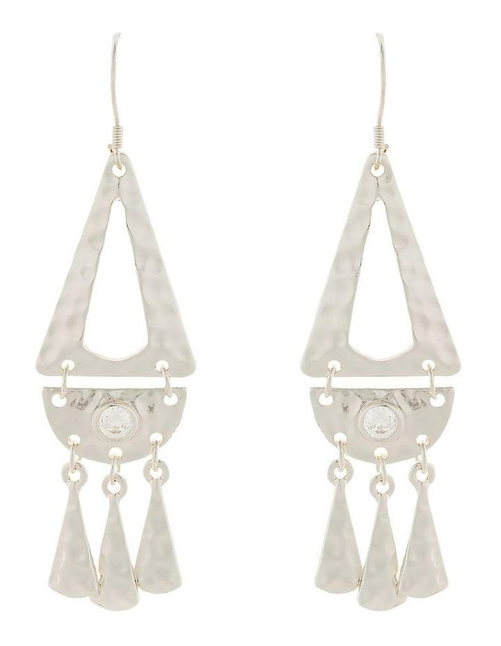 Faithful Earrings w/ Cubic Zirconia - Silver image 1