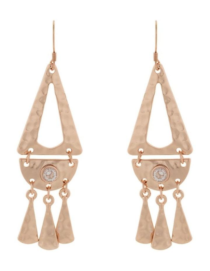 Faithful Earrings w/ Cubic Zirconia - Rose Gold image 1