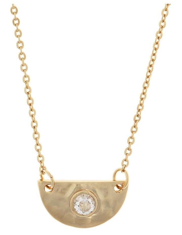 Faith Necklace-Light Gold image 1