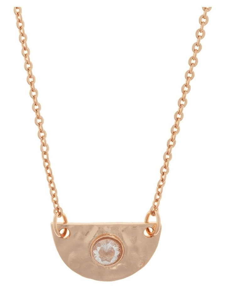 Faith Necklace w/ Cubic Zirconia - Rose Gold image 1