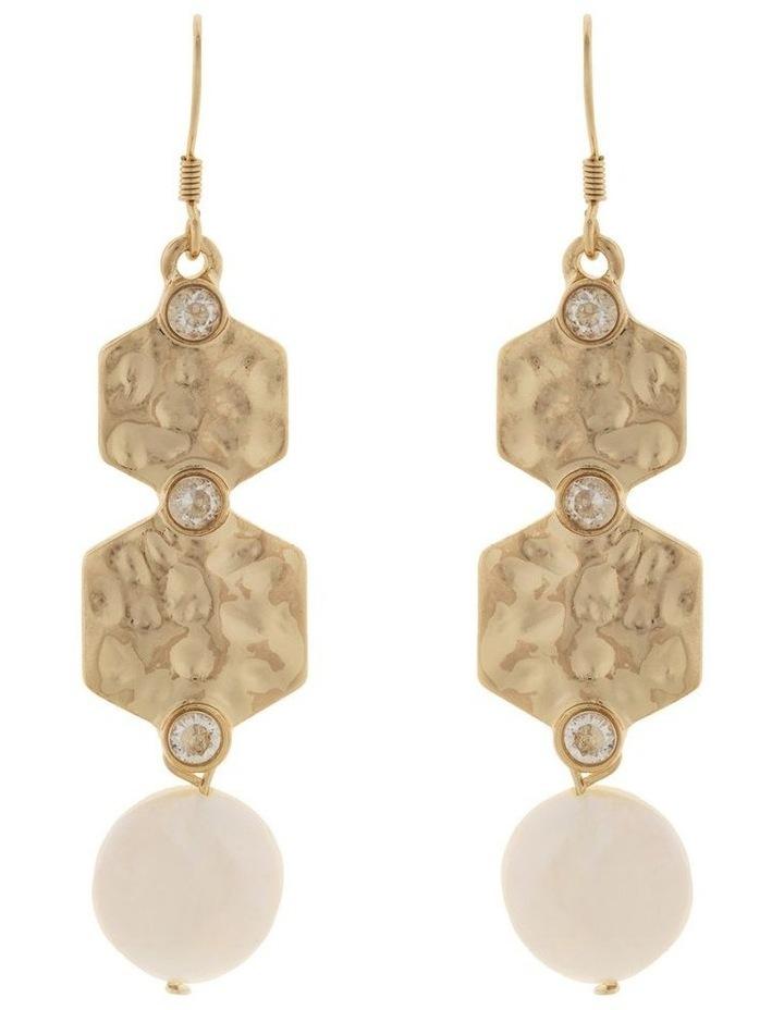 Strength Pearl Drop Earrings-Light Gold image 1