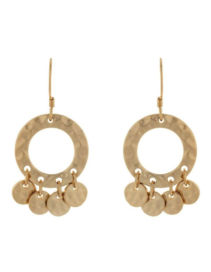 Ring Of Life Earrings-Light Gold image 1