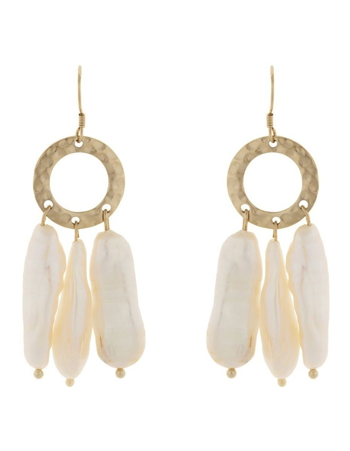 Ring Of Life Pearl Drop Earrings - Gold image 1