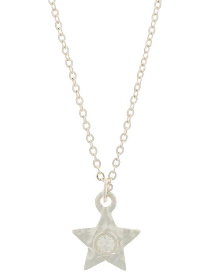 Star Necklace w/ Cubic Zirconia - Silver image 1