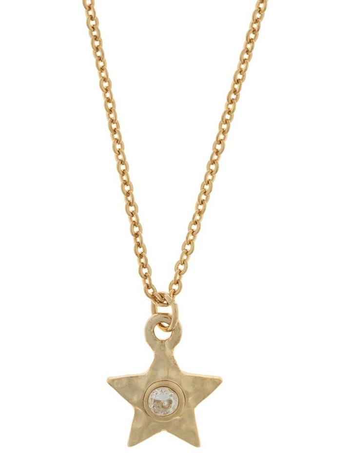 Star Necklace w/ Cubic Zirconia - Light Gold image 1